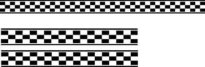 Checkered Flag Decals Sticker Car Graphics 1 set of 3