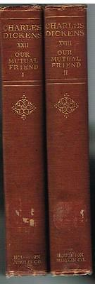 Our Mutual Friend by Charles Dickens  1894  Vol. 22 & 23 Rare Antique Book! $
