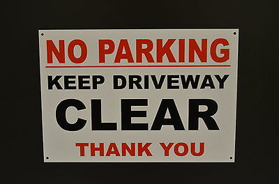 """NO PARKING Keep Driveway Clear Shabby Chic 8x10/"""" Metal Sign Retro Property #234"""