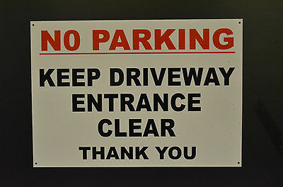 No Parking Keep Driveway Entrance Clear Sign Or Sticker Choice Of Sizes/Options