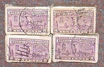 USA 1922-31...100 stamps...SPECIAL DELIVERY 10c...BUNDLE FROM OLD TIME STOCK