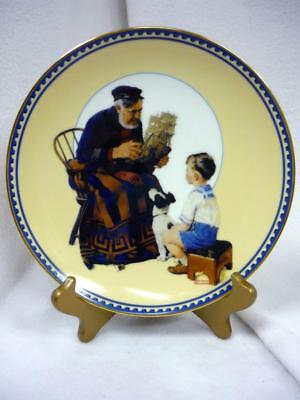 The Sea Captain Collector Plate Norman Rockwell Knowles 1St Innocence Experience