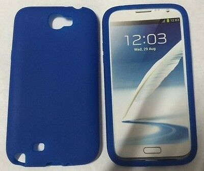 FOR Samsung Galaxy Note 2 II T889 T-MOBILE SMARTPHONE BLUE SKIN Case COVER