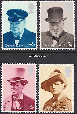 GB 1974 Birth Centenary of Churchill SG962 - 965 Complete Set Unmounted Mint