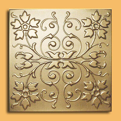 Styrofoam Ceiling Tile - CAPRI Gold Tin - Look Glue Up Easy Instalation