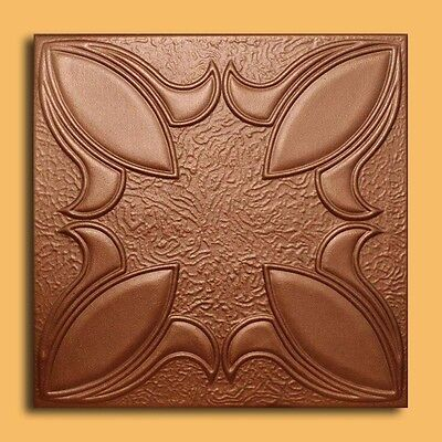 Styrofoam Ceiling Tile - IRIS Copper Tin-Look Glue Up Easy Instalation