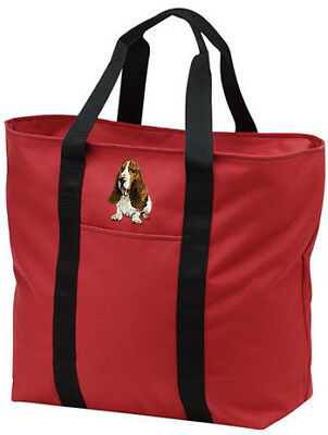 BASSET HOUND embroidered tote bag ANY COLOR