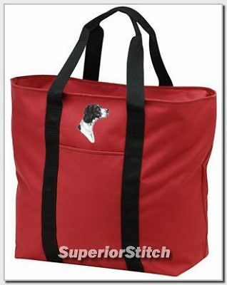 POINTER embroidered tote bag ANY COLOR