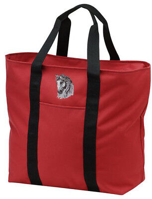 ANDALUSIAN horse embroidered tote bag ANY COLOR