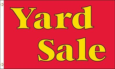 YARD SALE Flag 3x5 ft Advertising Sign Red Estate Garage Flea Market Moving