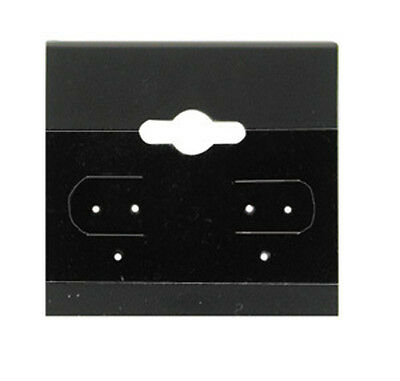 """100Pc Black Plain Hanging 1.5"""" x 1.5"""" Earring Card With Lip Jewelry Display Hang"""