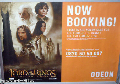 Cinema Poster: LORD OF THE RINGS THE TWO TOWERS 2002 (Odeon Quad) Elijah Wood