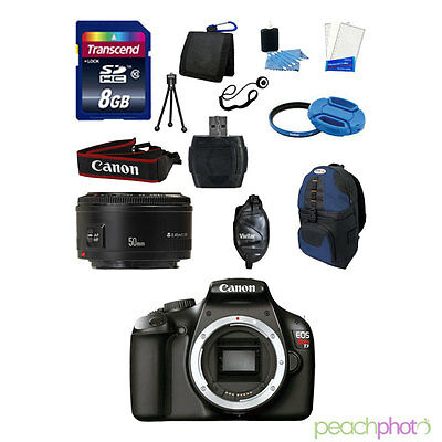 NEW Canon EOS T3 1100D SLR Camera with 50mm 1.8 SUPER VALUE Blue KIT USA
