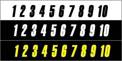Race Numbers 6 Inch Singles-  Factory Racing - Made In Australia