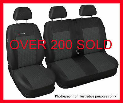 Renault Trafic Vauxhall Vivaro  tailored seat covers   1+2   grey1