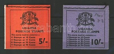 Uganda stamp Flowers 5Sh and 10Sh stamp booklets MNH 1969 WS109048