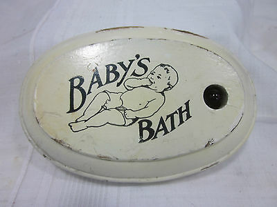 """Vintage Floating """"Baby's Bath"""" Wooden Thermometer Patent 1919"""
