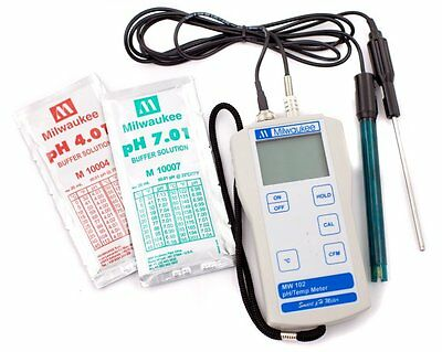 Milwaukee Automated Portable pH/Temperature Meter #MW102 ( MW102 )