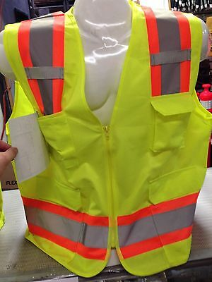 XXXL  ANSI CLASS 2  Bordered Reflective Tape/  High Visibility Safety Vest