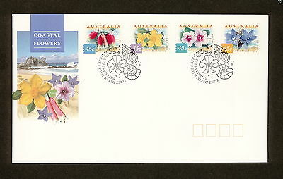 1999 FDC1866 COASTAL FLOWERS Peel & Stick First Day Cover
