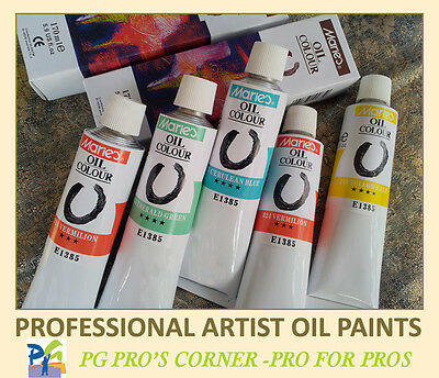 Marie's Artist Oil Paints 6 Large Tubes-170ml Pigments–Choose from 33 colors!