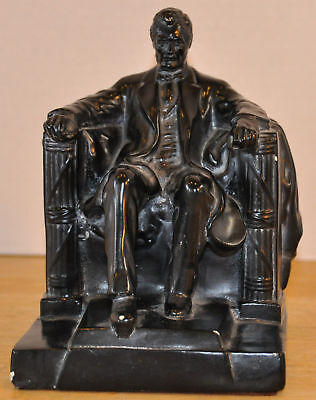 FREE SHIPPING VINTAGE ABRAHAM LINCOLN ABCO ALEXANDER BACKER CHALKWARE STATUE