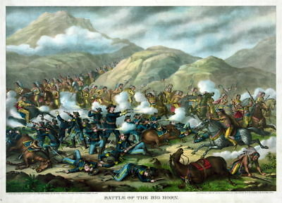 13x16 Poster: Battle of The Big Horn, George Custer's Last Stand