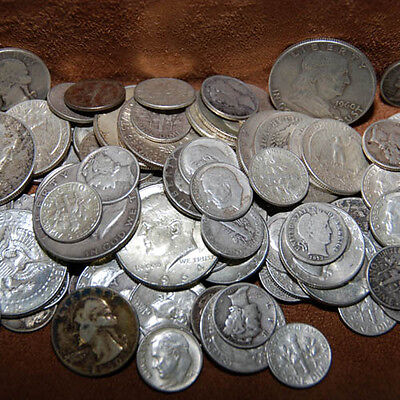 90% Silver - 3 Ounce Usa Coins Lot - Half Dollars Quarters Dimes Out Of Circ Mix