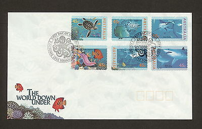 1995 FDC1568 WORLD DOWN UNDER Peel & Stick (6) FDC TOWNSVILLE 4810 Postmark