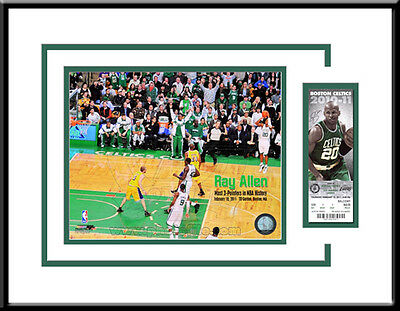 Ray Allen 3-Point Record Authentic Ticket Frame - Boston Celtics