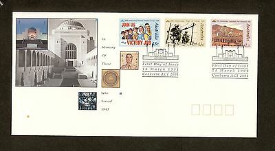 1991 FDC1285 THOSE WHO SERVED (3) First Day Cover