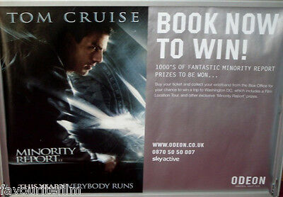 Cinema Poster: MINORITY REPORT 2002 (Odeon Quad) Tom Cruise Colin Farrell