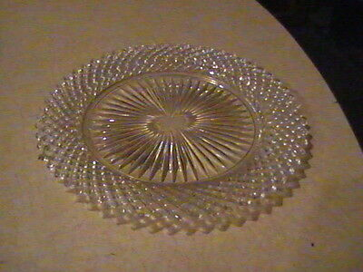 """Anchor Hocking Glass Miss America Crystal Plate 8 1/2"""""""