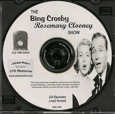 BING CROSBY ROSEMARY CLOONEY SHOW - 222 Shows Old Time Radio MP3 Format OTR 3 CD