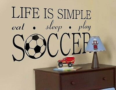 World Cup Soccer Personalized Name Bedroom Nursery Vinyl Wall Decal Art