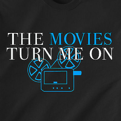 THE MOVIES TURN ME ON sex celb naughty bluray 3D dvd vintage retro Funny T-Shirt