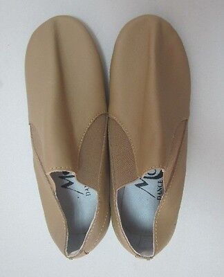New Slip On Tan Jazz Shoes With Split Sole By Moda Dance Couture