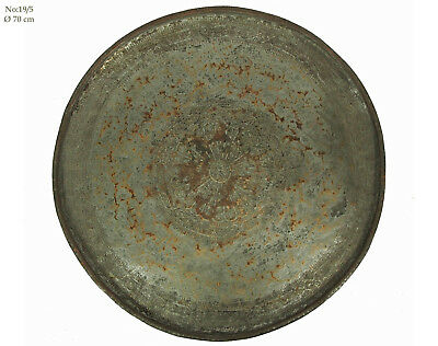 70 cm antik orient Kupfer tablett Teetisch antique copper tray Afghanistan 19/5