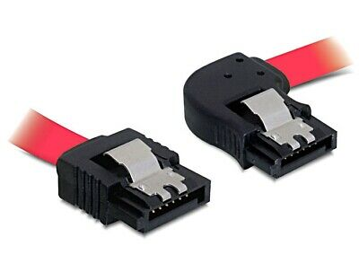 Delock cable data SATA 7pin 100 cm angled right / straight metal clips red 3Gbps