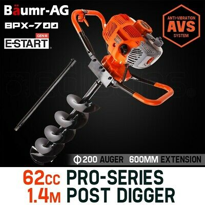 【UP TO 20%OFF】Baumr-AG Post Hole Digger 62cc Posthole Earth Auger Fence