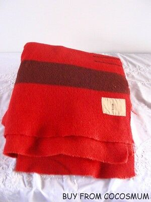 Antique Vtg Wool 3 Point Blanket Uncut -Extra Long Mackay Smith Blair Vancouver