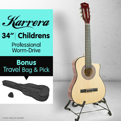 NEW NATURAL CHILDRENS ACOUSTIC GUITAR IDEAL KIDS GIFT 1/2 size