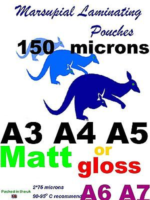 A3 A4 A5 A6 A7 Laminating pouches gloss or MATT pick a quantity 2suit your needs