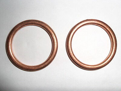 EXHAUST GASKETS Suitable for Honda CB500 Twin 499cc  1994 - 2003 set of 2