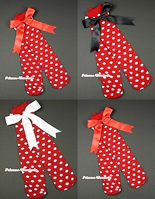 Knee Length Sock Girl Minnie Hot Red White Polka Dots Stocking Pettiskirt 3-10Y