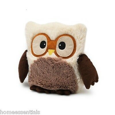 "Warmies Intelex 10"" Cream Hooty Owl Microwavable Heatable Cozy Lavender Scented"