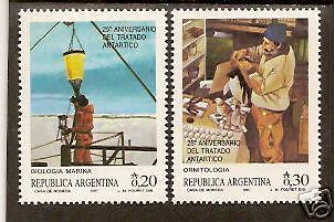 ARGENTINA 1987 25th ANNIVERSARY ANTARCTIC TREATY 2v MNH