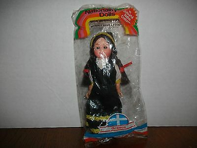 """VINTAGE NATIONALITY DOLLS """" GREECE """" NEW IN PACKAGE"""