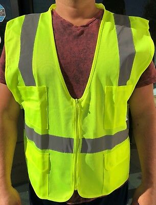 SMALL, YELLOW  ANSI CLASS 2  / Reflective Tape/  High Visibility Safety Vest