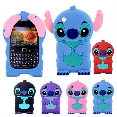 3D Cute Stitch Soft Silicone Case Cover For BlackBerry Curve 8520 8530 9300 BB21